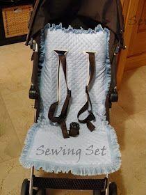 Colchoneta para silla de paseo. Patrón e instrucciones, para McLaren y universal