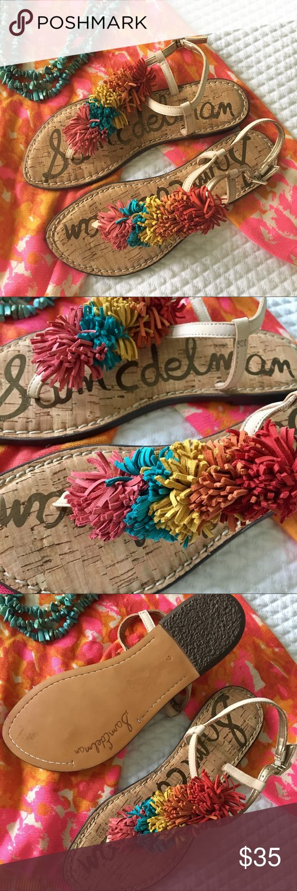 NWOTB Sam Edelman Sandals Adorable and colorful Pom Pom sandals from Sam Edelman. Go with everything.  Brand new but without box/tags.  Size 6. Full price is $90.  [Sweater also for sale] Sam Edelman Shoes Sandals