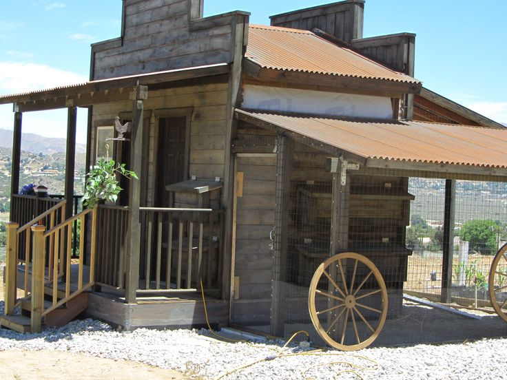 Western Garden Shed and Chicken Coop - I think this wins for my current favorite. Thinking of doing a total tear down and combining supply shed with chicken coop. I'm sure my neighbors will love me!