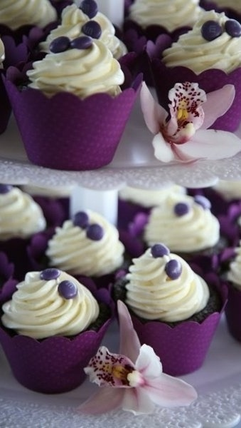 Purple Cupcakes that Robia picked out.