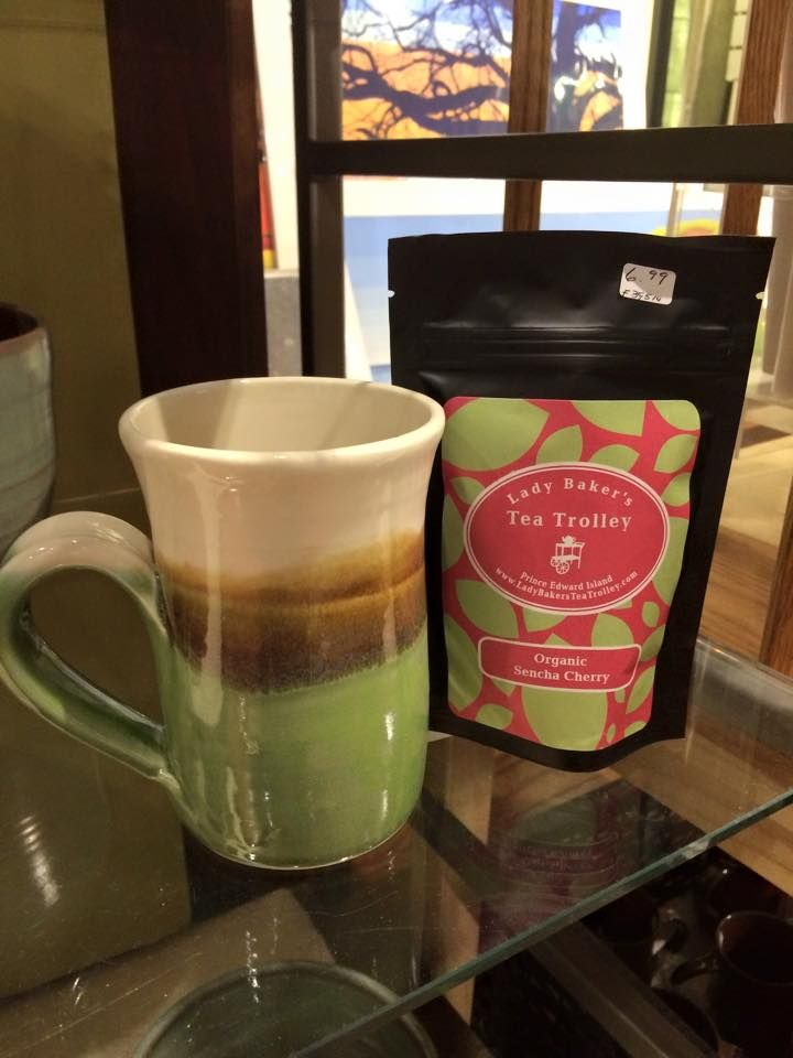 Our tea pairs perfectly with one of these handmade caramel apple mugs from Village Pottery. Both are available at The Showcase at the Confederation Centre for the Arts in Charlottetown, PEI.