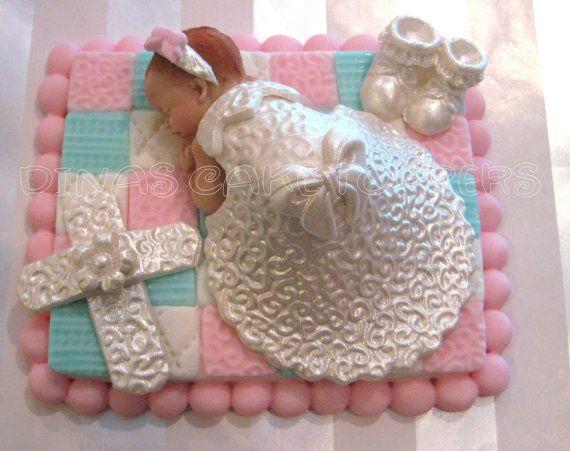 Baptism Christening Cake Topper