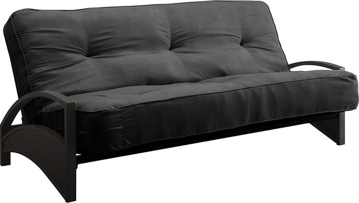 Dhp 8-Inch Independently-Encased Coil Premium Futon Mattress, Full Size, Black #DHP