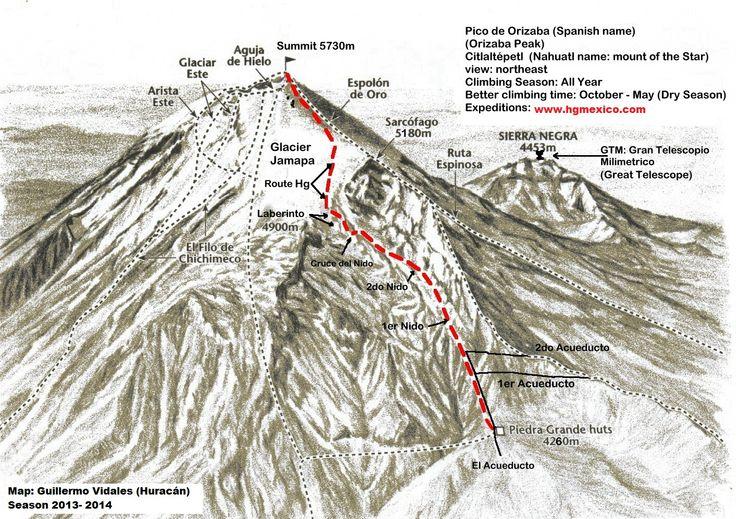 """PICO DE ORIZABA HIKING - MEXICO www.hgmexico.com1412 × 997Search by image Climbing el """"Pico de Orizaba"""" (Citlaltepetl) 5730 m / 18800 ft. Pico de Orizaba route. You can climb this mountain in all the year"""