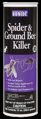 BONIDE 363 SPIDER AND GROUND BEE KILLER 10 OZMY DAD IS ALLERGIC TO BEE STINGS AND HAS BEEN RUSHED TO THE HOSPITAL MANY TIMES WITH THIS PROBLEM. HE CARRIES AN EPI PEN FOR THE EMERGENCY BUT STILL MEDICAL ATTENTION IS NECESSARY. BONIDE CONTAINS PERMETHRIN...