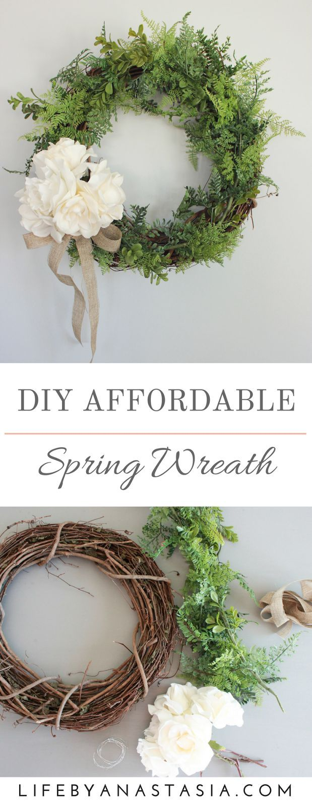 An easy and inexpensive wreath for your home decor. Wreaths are a fantastic way to keep your home decor up to date with the seasons, whether it's Christmas, Spring, Halloween or Winter you can customize a wreath for every season.