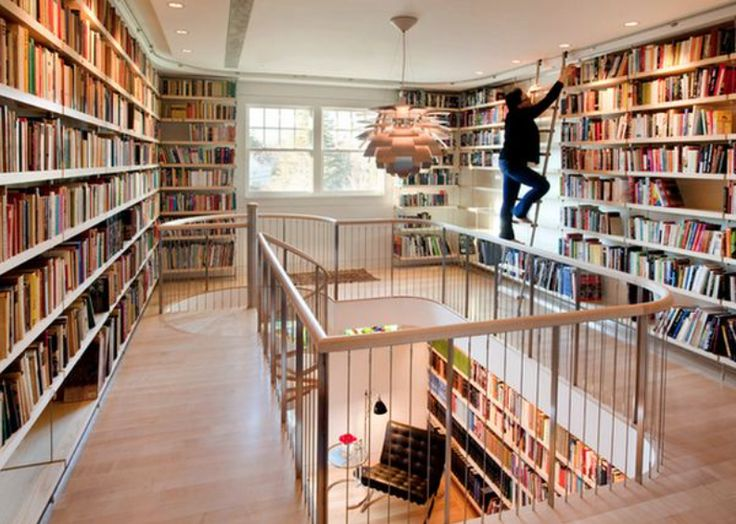 Library Design Ideas Mezzanine Floor Bookstores Libraries House Interior Bookcase