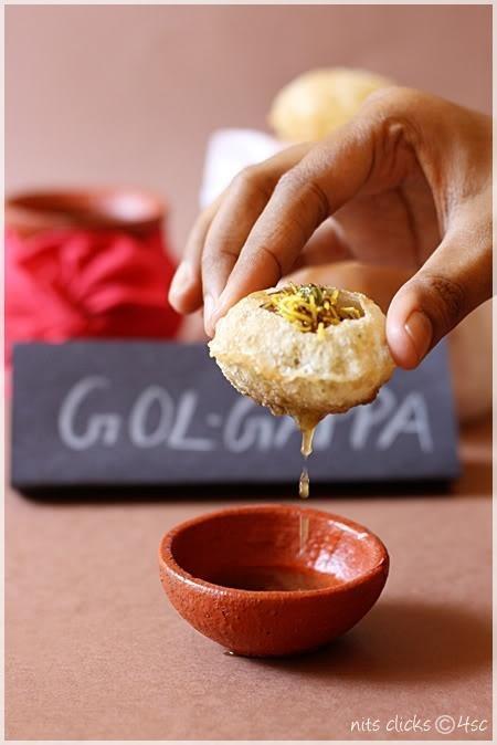 Pani Puri or Golgappa. Crunchy, messy, tangy, delicious snacks.