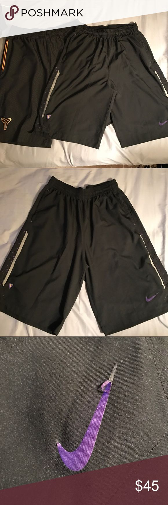 Nike Kobe Shorts bundle size Large Yellow pair is a medium but runs big, like a large. Flaws shown. Please check out my other posts. I offer 10% off bundled items. Nike Shorts Athletic