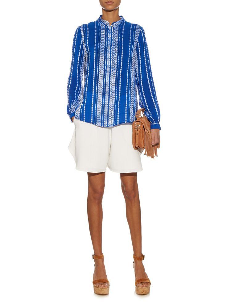 Hera stripe-jacquard silk blouse  | Zeus + Dione | MATCHESFASHION.COM US