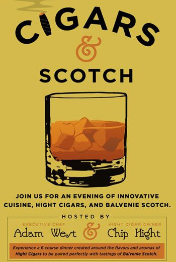 The Promotional poster.     Amazing food from the Cigar and Scotch Dinner.    http://smokinghotcigarchick.com/a-profound-tasting-hight-cigars-and-balvenie-whisky-at-the-hotel-zaza
