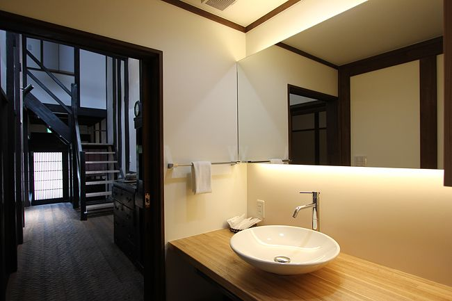 Machiya Residence Inn Hatoba-an is a special sort of hotel in Kyoto. The building is constructed in the Machiya style, which is a traditional wooden townhouse. From 17,500yen per person.