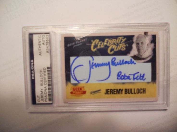 JEREMY BULLOCH-BOBA FETT-STAR WARS-CUSTOM CARD-SIGNED/AUTOGRAPHED-PSA/DNA 1/1