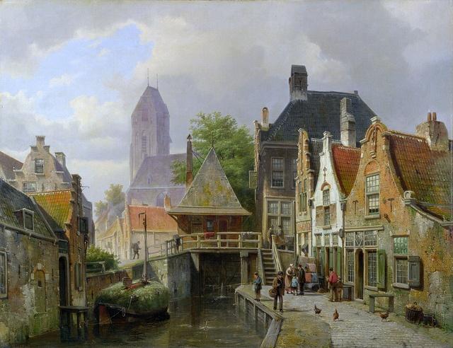 Willem Koekkoek - View of Oudewater [c.1867]