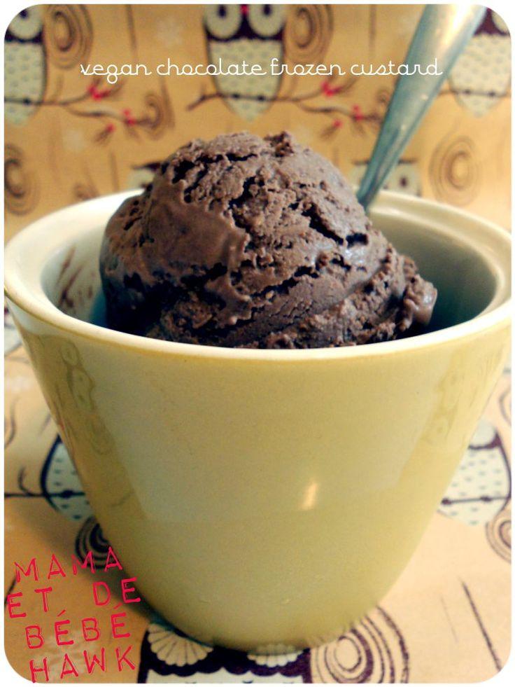 Vegan Chocolate Frozen Custard