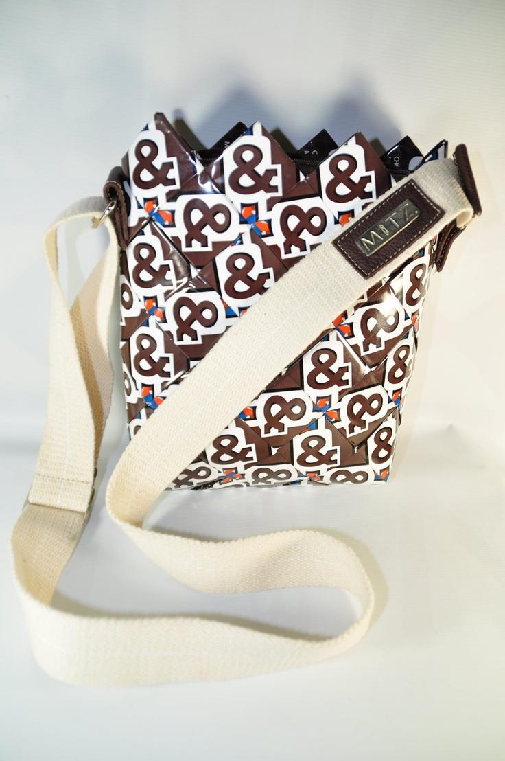 Candy wrappers purse  Femenina Messenger Bag by MitzCanada on Etsy. $39.00, via Etsy.