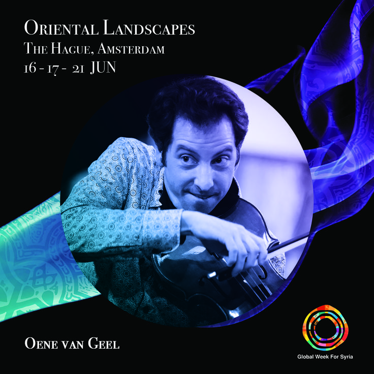 """Amsterdam-based violist and composer. Oene van Geel newly composed piece commissioned by Oriental Landscapes festival """"A concerto for Oud and a flute"""" will be performed by Palestinian oud player Nizar Rohana and flutist Felicia van den End."""
