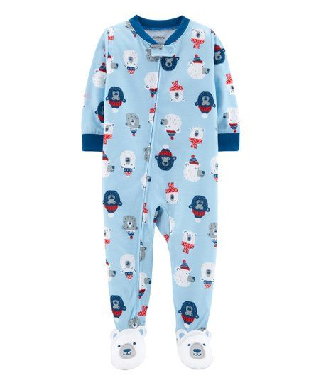 cb0b91ae6064 Carters Blue Polar Bear Footie - Infant