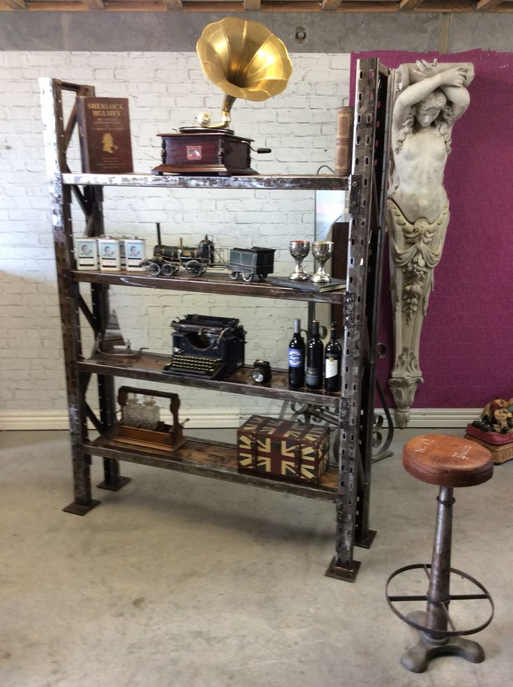 """Industrial bookshelves display stand """"the glass den cafe"""" by Tony. B"""