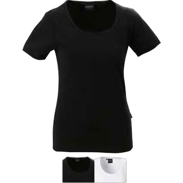Short sleeve stretch top with Lycra (R). Material Information: Made of 90%…