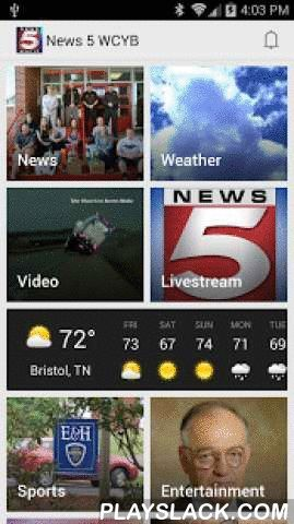 News 5 WCYB.com Mobile  Android App - playslack.com ,  WCYB's new and improved news app lets you take the News 5 WCYB newsroom with you wherever you go!Get facts at your fingertips with up-to-date news from Northeast Tennessee and Southwest Virginia. More headlines, video, weather, sports, and features than ever before from the convenience of your phone.Check our local network of weather cams, plus radar, forecasts, and closings.Submit news and severe weather information directly to News 5…