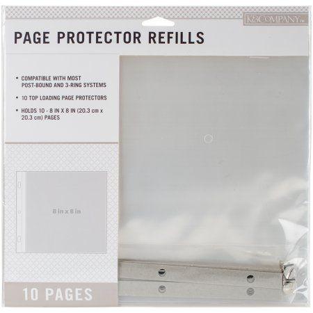 K Scrapbook Refill 8x8 10pc, Multicolor