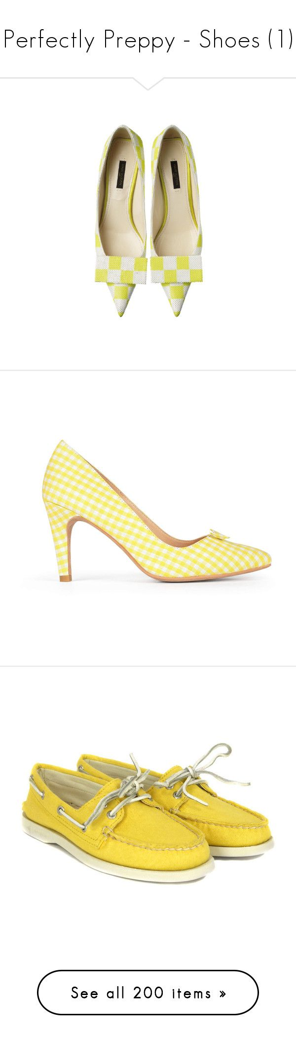 Perfectly Preppy - Shoes (1) by metalheavy on Polyvore featuring polyvore, women's fashion, shoes, pumps, flats, heels, louis vuitton, flat pumps, heeled flats, flat pump shoes, louis vuitton pumps, louis vuitton flats, sneakers, clothing, sapatos, women, yellow shoes, canvas deck shoes, lace up flat shoes, laced up flats, sperry top-sider shoes, sandals, t-bar sandals, t strap shoes, t strap flat shoes, t bar flats, bow sandals, loafers, scarpe, yellow, yellow suede shoes, flat shoes, suede…