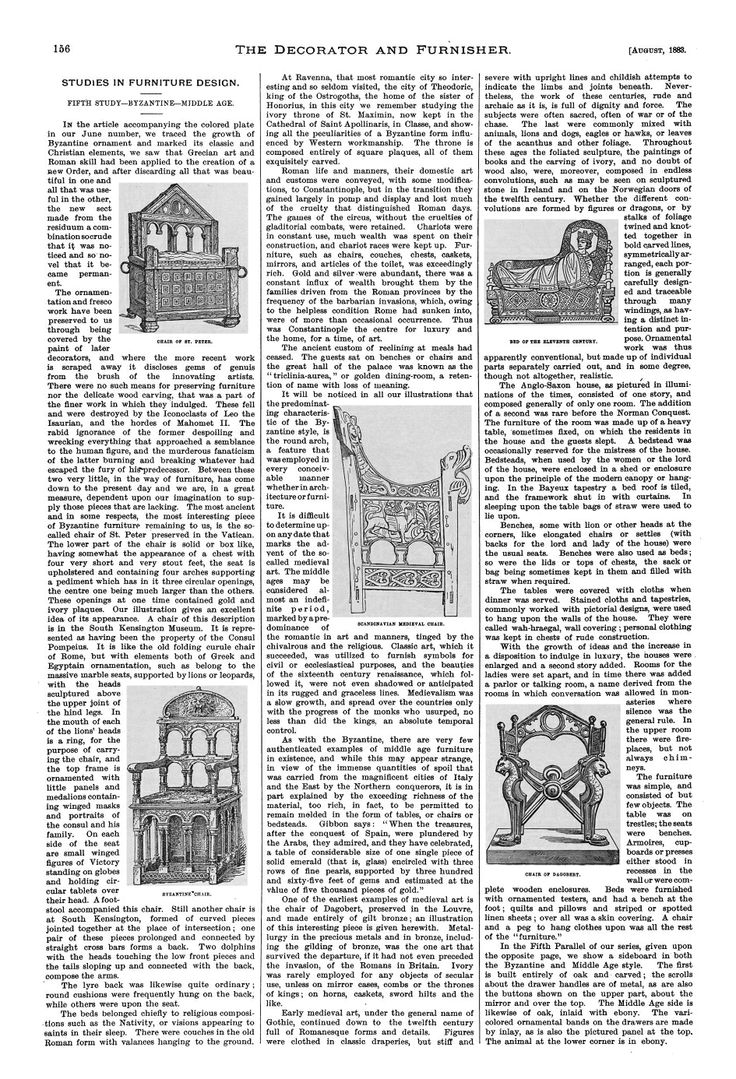 Page 156 of The Decorator and Furnisher, Vol. 2, No. 5, Aug., 1883
