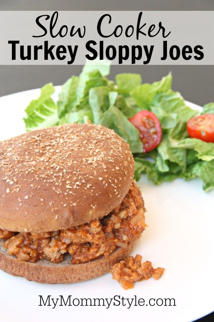 Slow Cooker Turkey Sloppy Joes - My Mommy Style