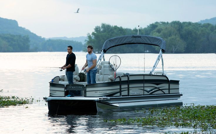 Fishing pontoons - Cast a Way -pontoons.com  Pontoons Catalog : Premier Pontoons is a part of Premier Marine Group who has refined the art of pontoon building and employs the best designers, architects, engineers and assemblers to ensure that the product is second to none.  Visit : http://pontoons.com/boats/fish-and-cruise/cast-a-way.php?type=3