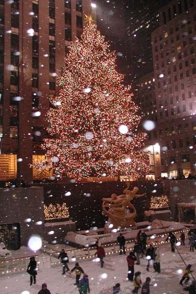 Christmas time in New York. You have no idea how bad I want to go to Rockefeller Center to ice skate while it snows during Christmas!!!