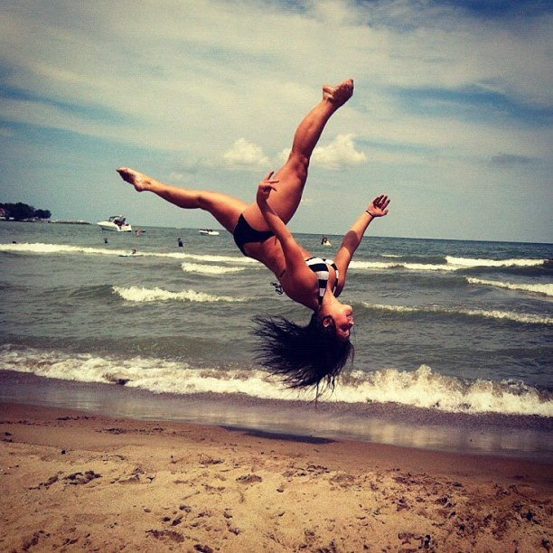 itching for some beach gymnastics