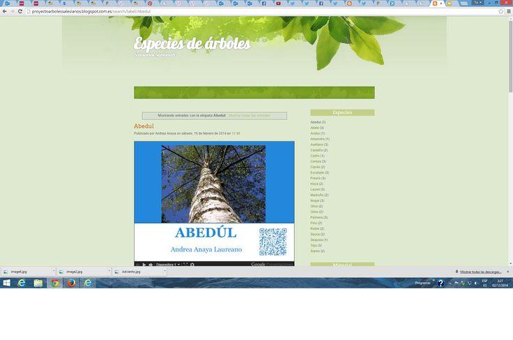 Proyecto árboles  y Animales (Salesianos) http://proyectoarbolessalesianos.blogspot.com.es/ http://proyectoanimalessalesianos.blogspot.com.es/