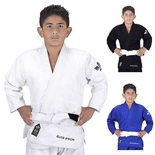 Elite Sports Deluxe Kids IJF Judo Gi w/ Preshrunk Fabric & Free Belt