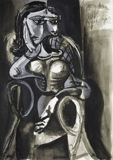 "Pablo Picasso - ""Woman sitting in an armchair"", 1940"