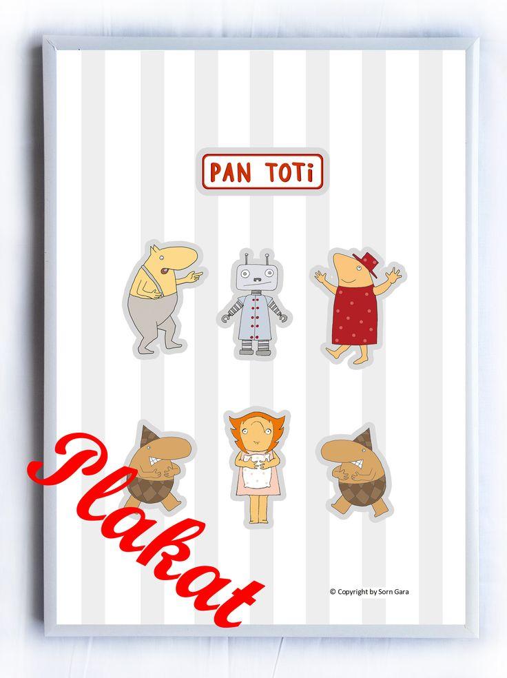 "Plakat ""Kolekcja Pan Toti"" Kolorowanki, poduszki, przytulanki, układanki ""Kolekcja Pan Toti""  https://www.facebook.com/kolekcjaPanToti/?fref=photo"