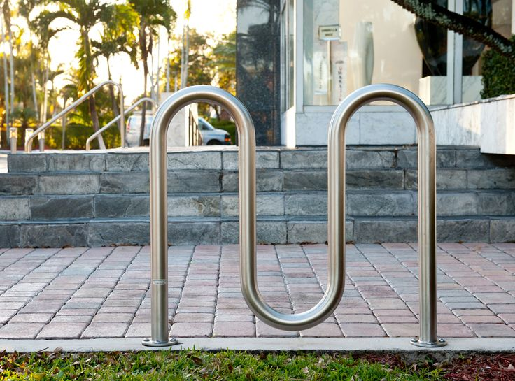 The R-8239-SS Wave Bike Rack offers high-capacity, corral style bike parking with premium aesthetics and enhanced durability.  The Wave Bike Rack can secure up to 5 bikes with a U-lock between the frame and one wheel. To learn more, visit:  http://www.reliance-foundry.com/bike-parking/bike-racks/r-8239-stainless-steel