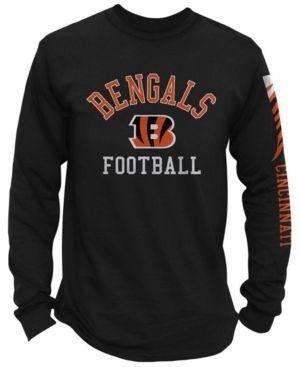 Authentic Nfl Apparel Men's Cincinnati Bengals Spread Formation Long Sleeve T-Shirt - Black XXL