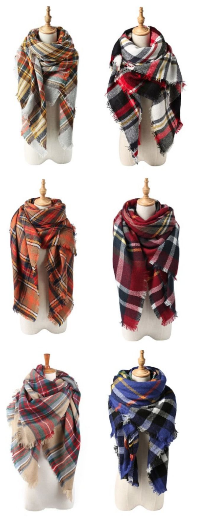 Cozy Blanket Scarf- sooooo many fun colors to choose from! These are just like the original Zara scarf! Fall needs to hurry up and get here so I can pull this baby out!! {aff}