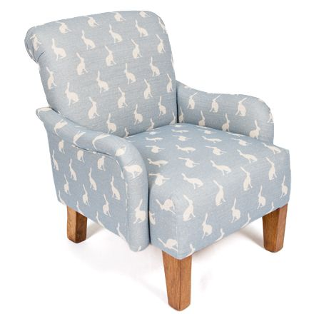Wonderful Small But Perfect Childrenu0027s Wee Stuart Chair Upholstered In Peony And Sage  Oxford Blue Hares.