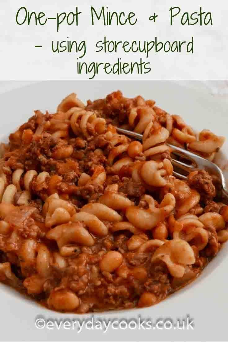 One Pot Mince And Pasta Store Cupboard Meal For A Weekday Dinner Everyday Cooks Recipe Pasta And Mince Recipes Minced Beef Recipes Minced Beef Recipes Easy