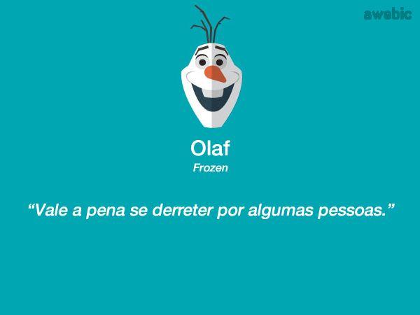 Citação #Olaf #Frozen: