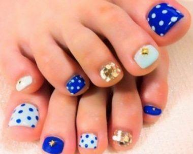 modelos de uñas de pies pintadas faciles