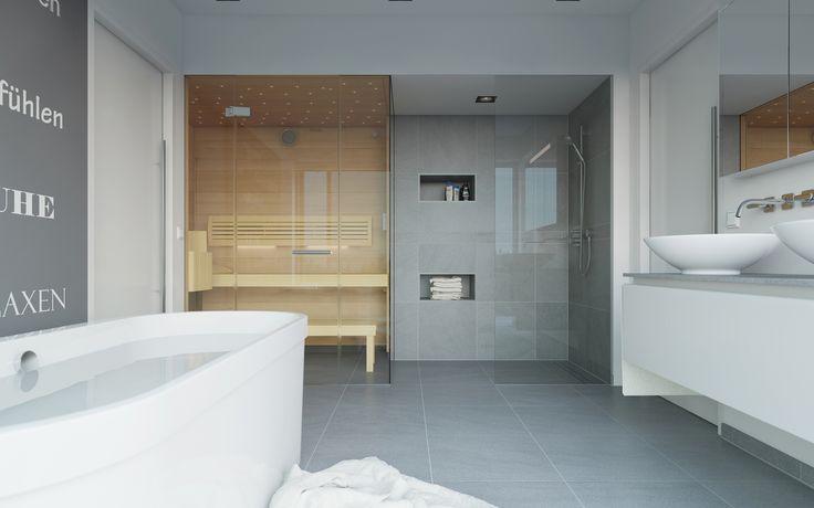 sauna im bad grundriss - Google-Suche Saunas Pinterest - sauna fürs badezimmer