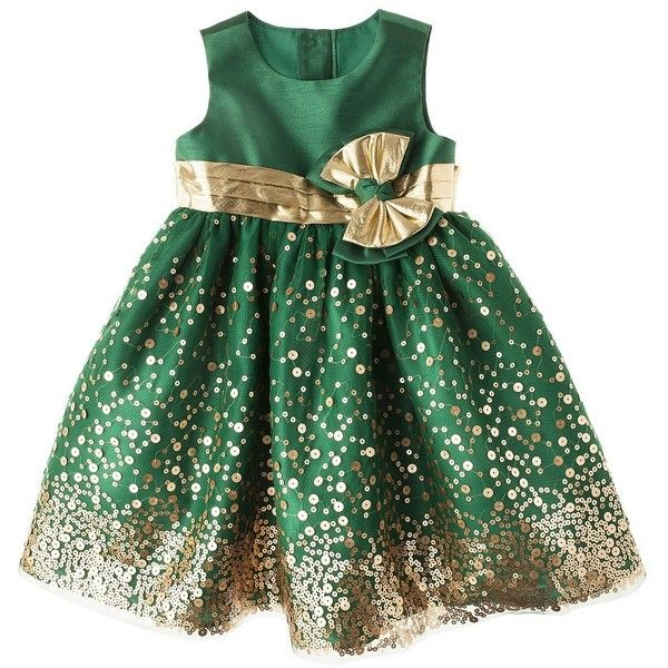 Rosenau Infant Toddler Girls' Sequin Dress Gold (63 BRL) ❤ liked on Polyvore featuring kids, baby, christmas and dresses