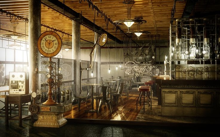 CGTalk  Title: steampunk cafe  Name: yoo jaechang Country: Korea (South) Submitted: 4th August 2014