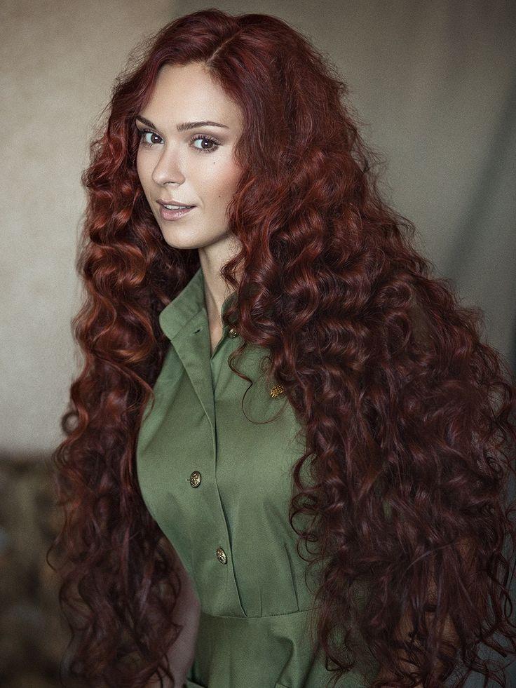 Curly sissy long hair chubby