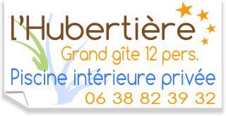 Gite de groupe de l'Hubertière avec piscine intérieure chauffée en Vendée à l'Hubertière, gite 10 à 12 personnes avec 5 chambres et étang de pêche privé.