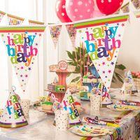 Ну вечеринку украшения, Шляпы, Подарочные пакеты, Скатерти, Рога, День рождения ну вечеринку поставки праздничный собрания для 6 человек бесплатная доставка