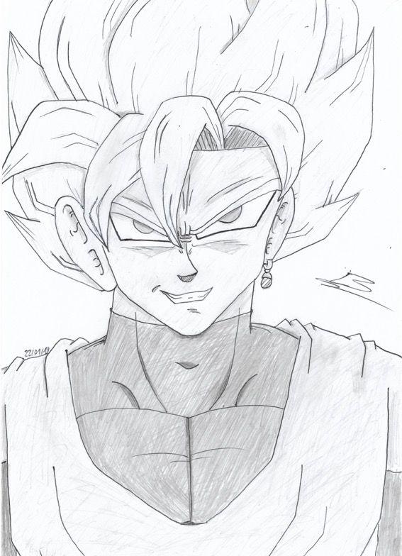Black Goku Rose Dessin